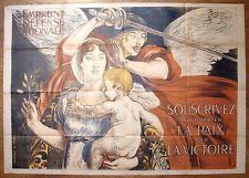 Guerre 1914-18 Affiche emprunt signée Besnard - WW1