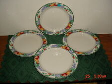 """4-PC TIENSHAN INTRO """"ORCHARD"""" 7 3/4"""" MEDIUM SALAD-SERVING PLATES/AS IS/CLEARANCE"""