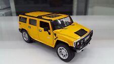 2008 Hummer H2 4X4 jaune kinsmart Jouet miniature 1/32 echelle Voiture cadeau