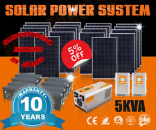 5Kva Solar Panel System 110Vac/220Vac Solar Energy Solar Power Home Electricity