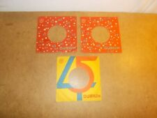 3 X ORIGINAL FACTORY RECORDS SLEEVE 45 RPM  - DURIUM 45  (123)