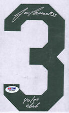 Jose Canseco Autographed #3 Jersey Letter Oakland As Green 40/40 Inscription PSA