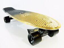 "Penny Nickel Board Black Gold 27"" x 7.5"" Plastic Cruiser Skateboard"