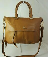 Authentic Vince Camuto Dean Pebble Leather Expandable Satchel - Brown
