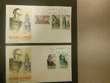 Two (2) Spain First Day Covers Founders of American Churches/Cathedrals 1970