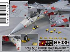 Hobby Fan HF089 1/48 F-CK-1 Wheel Blocks, Antennas & Intake Covers Set