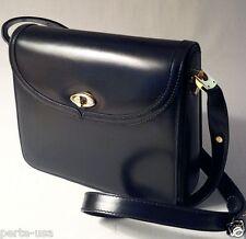 BALLY SMOOTH LEATHER SHOULDER BAG HANDBAG BLACK MADE IN ITALY EXCELLENT