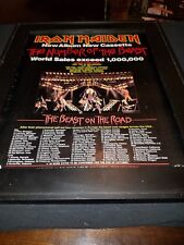 Iron Maiden Number Of The Beast Tour Rare Original Promo Poster Ad Framed!