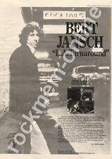 Bert Jansch Pentangle L.A. Turnaround CAS1090 MM4 LP Advert 1974
