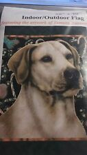 Large Outdoor Flag New Yellow Lab Dog 28 x 40 Christmas Rare Usa Labrador L@K