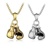 3D Men Boxing Glove Charm Stainless Steel Pendant Necklace Fashion  New.