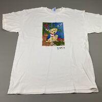 Vintage 90s Y2K T Shirt L SPCA International Cute Puppy Graphic White