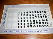 """MICROSCALE DECAL PD-8 """"Number Sheet"""" PINEWOOD RACE CAR"""