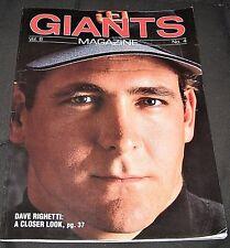 Vintage 1991 San Francisco Giants Magazine featuring Dave Righetti--Vol 6, #4