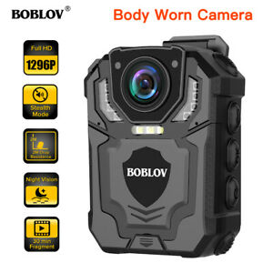 BOBLOV T5 Wearable Police Body Worn Camera Files Protection With Audio Recording