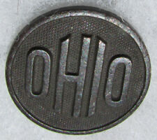 WW1 OHIO state US Collar Disc, Curved Letters with nut