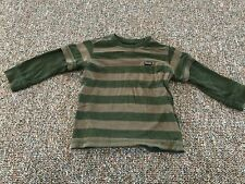 Quiksilver Green Striped Long-Sleeved Top 18-24M