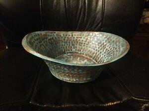 Wunderschönes Kupfer Waschbecken aus Agypten, Handgefertigt mit schöner Patina.