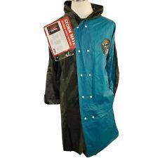 Vtg Jacksonville Jaguars Raincoat Mens One Size Rain Poncho Logo Storm Mate Hood