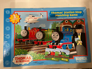 Thomas and Friends Station Stop Matching Game 3 In 1 Memory Matching Complete