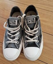 WOMENS LADIES RUBBER LOW TOP ALL STAR CONVERSE TRAINERS SIZE UK 3