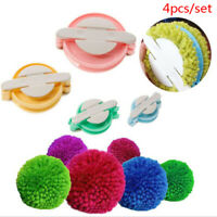 4pcs Essential Pompom Maker Fluff Ball Weaver Needle Craft Knitting Tool D_DD