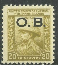 U.S. Possession Philippines stamp scott o22 - 20 cent issue of 1935 - mlh #2
