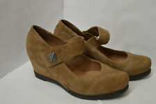 Mamzelle Womens Brown Suede Wedge Pumps Shoes Size UK 4 EU 37