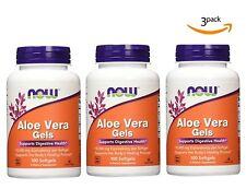 3-Pack Now Foods Aloe Vera Gels 100 Softgels Capsule 10000mg Herbal Supplement