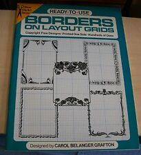 AF0244 Clip Art Book READY TO USE BORDERS ON LAYOUT GRIDS Dover pb used