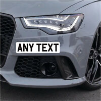 300 x 75mm Front Stick On Mini Number Plate Registration Plate Sticker Show Car