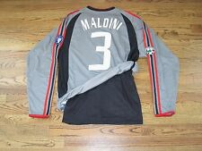 Maldini Milan Italy Italia Shirt Jersey Player Issue Match Un Worn Dual Layer LS