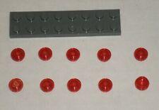 LEGO NEW 1x1 Transparent Red Round Plate Stud (10x) 3005741 Brick 30057
