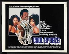 COOL BREEZE Movie POSTER 22x28 Half Sheet Thalmus Rasulala Judy Pace Jim Watkins