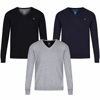 DIESEL MENS BENTI V NECK JUMPER PULLOVER GREY BLACK NAVY COTTON LONG RRP £80