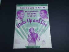 * Wake Up And Live- Walter Winchell-Th 00004000 Ere'S A Lull -Sheet Music-Vintage