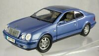 Anson 1/18 Purple 30330 Mercedes Benz CLK Coupe Vintage Toy Model Car Cream Int.