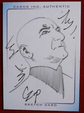 THUNDERBIRDS ARE GO! - SCARCE SKETCH CARD - THE HOOD - by JOHN CZOP - Cards Inc