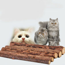 5x Pet Chew Stick Natural Matatabi Catnip Cat Molar Grinding Claws Treat Toy UCW