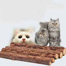 5x Pet Chew Stick Natural Matatabi Catnip Cat Molar Grinding Claws Treat Toy WS