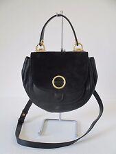 NEW Michael Kors Isadore Top Handle Medium Messenger Black Leather Purse