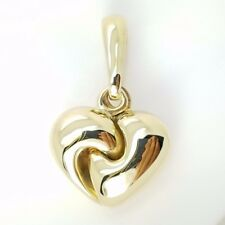 Chimento 750 18k Yellow Gold Double Sided Abstract Heart Pendant Enhancer Italy