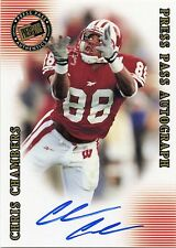 Chris Chambers 2001 Press Pass SE Rookie On Card Autograph Wisconsin Badgers