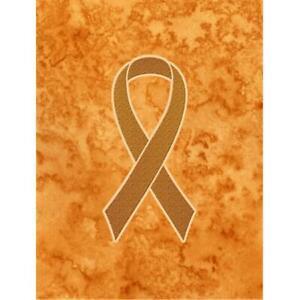Carolines Treasures AN1204GF Orange Ribbon for Leukemia Awareness Garden Flag...