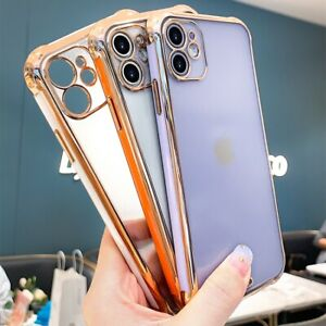 For iPhone 11 Pro Max 11 Pro Hard Back Shockproof Luxury Clear Phone Case Cover