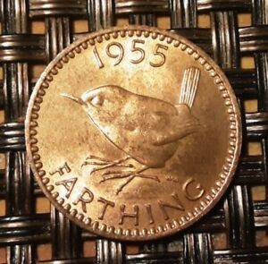 FARTHING 1955 UNC IN UNCIRCULATED CONDITION