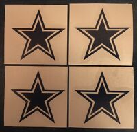 """Dallas Cowboys Star 2""""x2"""" - 4 Pack Decal**FREE SHIPPING**"""