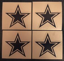 "Dallas Cowboys Star 2""x2"" - 4 Pack Decal**FREE SHIPPING**"