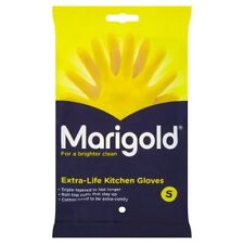 MARIGOLD KITCHEN GLOVES EXTRA LIFE KITCHEN RUBBER WASHING UP GLOVE YELLOW SMALL