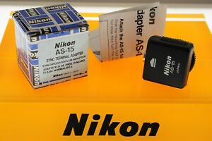 Nikon AS-15 Sync Terminal Adapter. In MINT boxed unused condition.